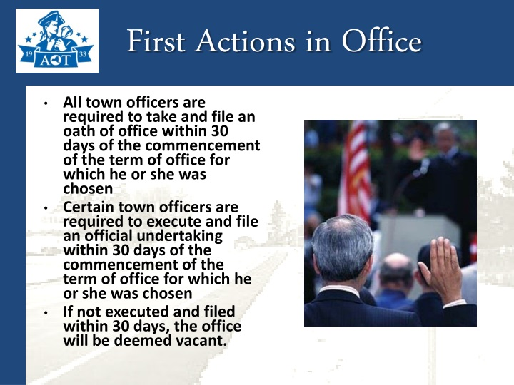 First Actions in Office