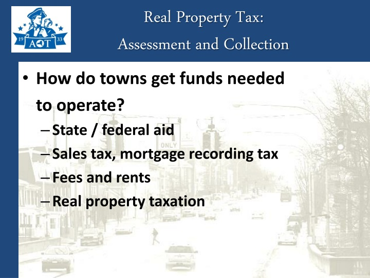 Real Property Tax: