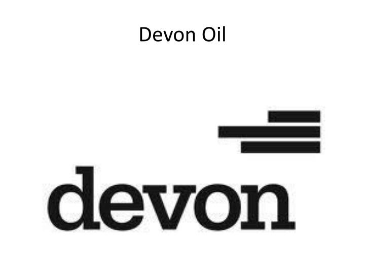 Devon Oil
