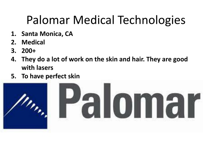 Palomar Medical Technologies