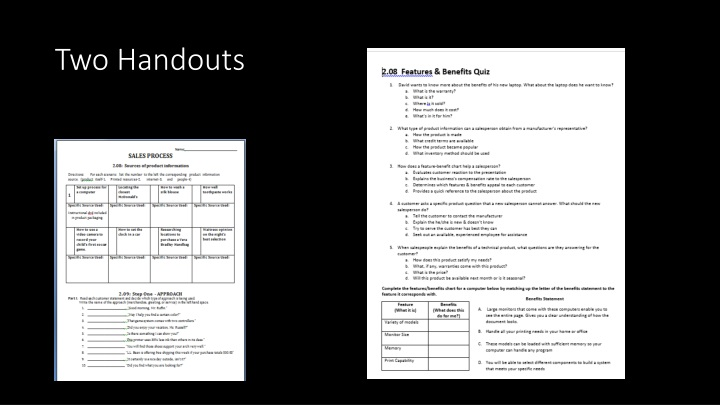 Two Handouts