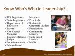 know who s who in leadership