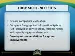 focus study next steps