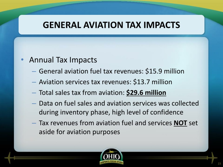 General Aviation Tax Impacts