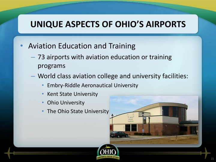 Unique Aspects of Ohio's Airports