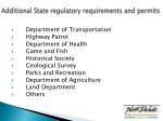 additional state regulatory requirements and permits