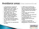 avoidance areas1