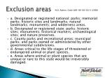 exclusion areas1