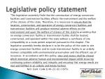 legislative policy statement