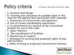 policy criteria1