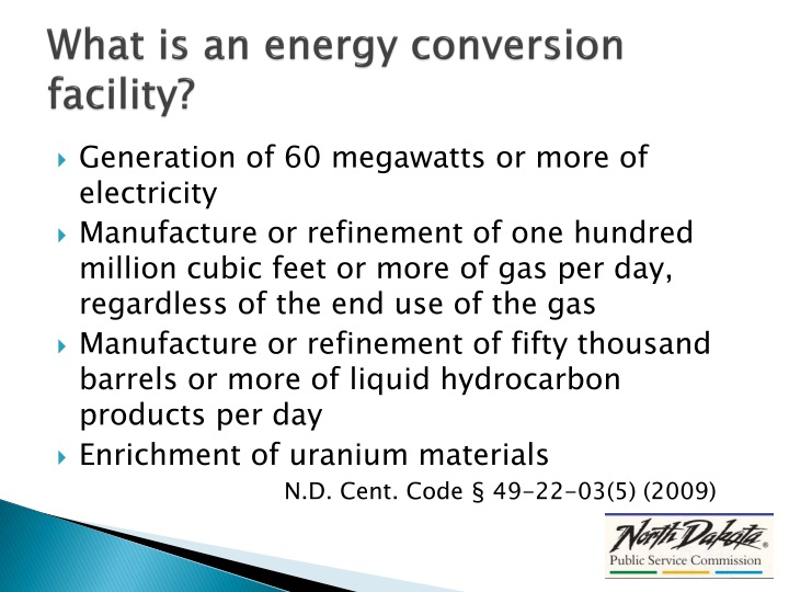 What is an energy conversion facility?