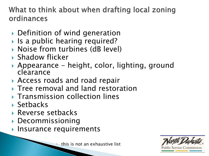 What to think about when drafting local zoning ordinances