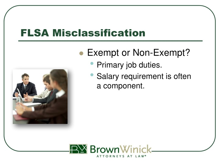 FLSA Misclassification