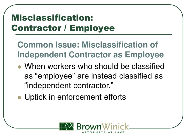Misclassification:
