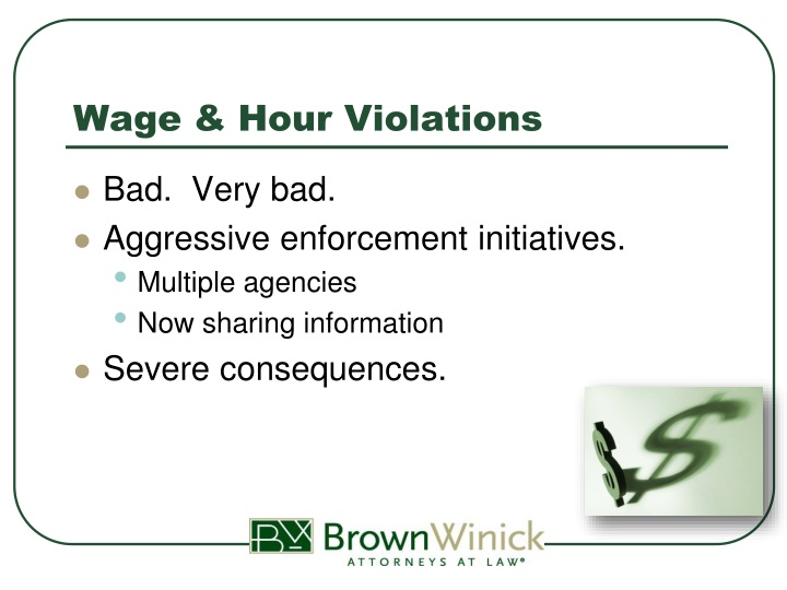 Wage & Hour Violations