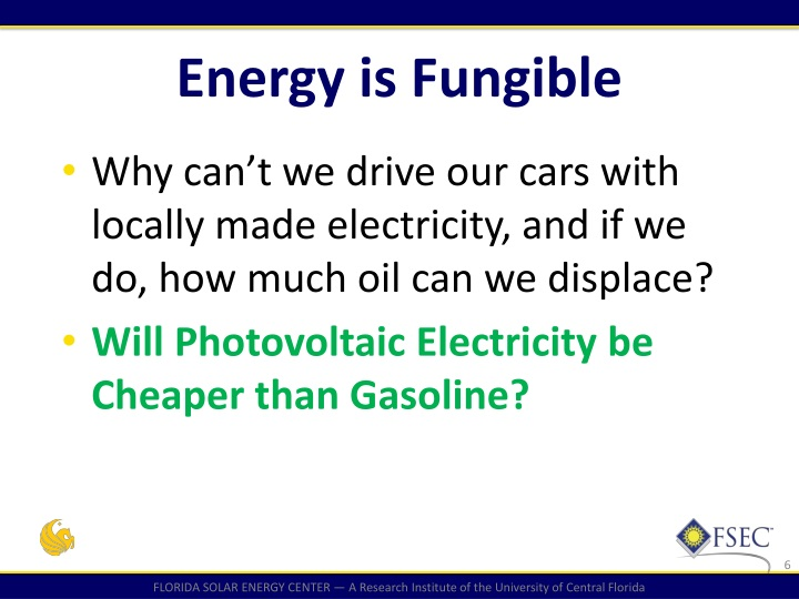Energy is Fungible