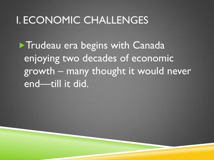 I. Economic Challenges