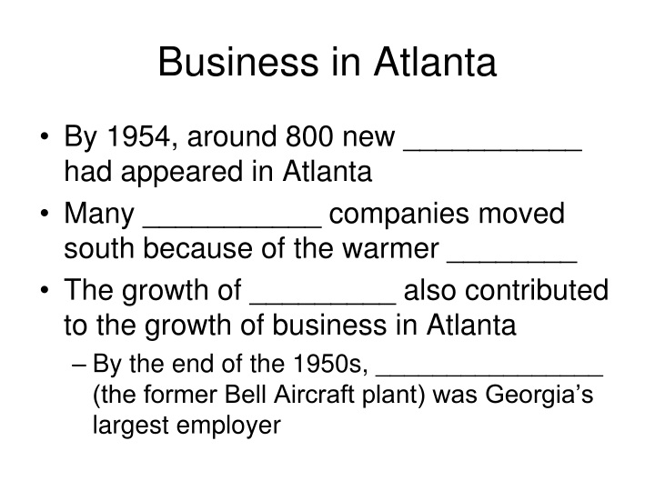 Business in Atlanta
