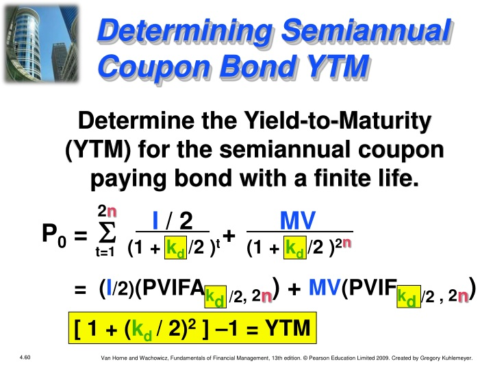 Determining Semiannual Coupon Bond YTM