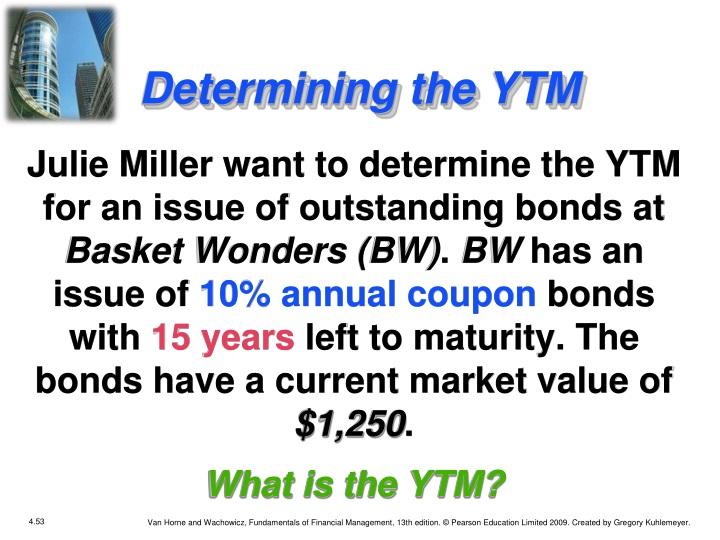 Determining the YTM