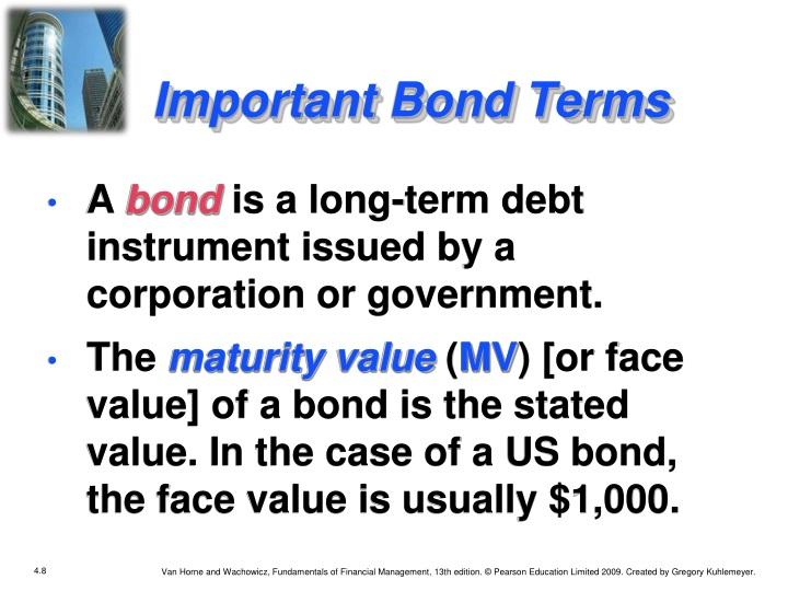 Important Bond Terms