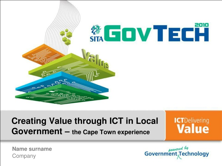 Creating value through ict in local government the cape town experience
