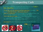 transporting cash