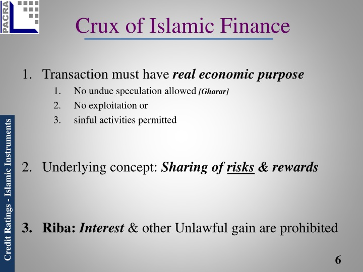 Crux of Islamic Finance