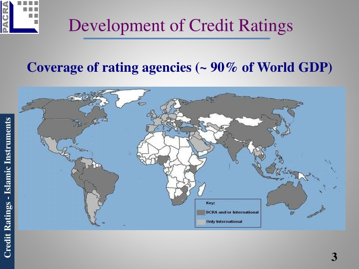 Development of credit ratings