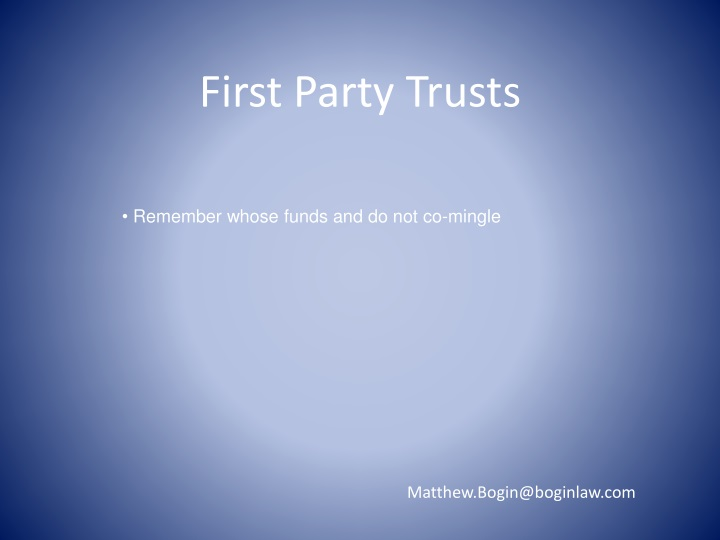 First Party Trusts