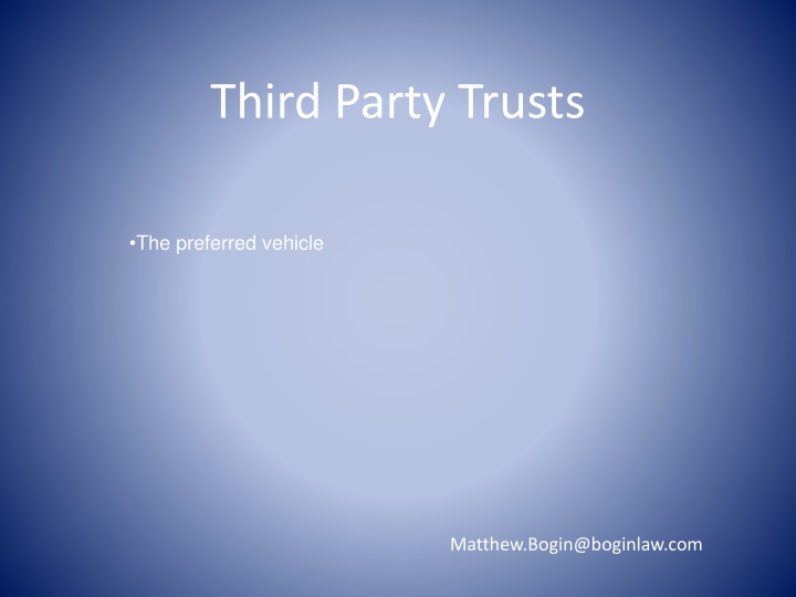 Third Party Trusts