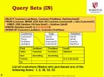 query sets in