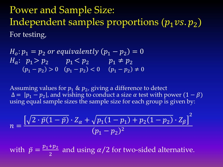 Power and Sample Size: