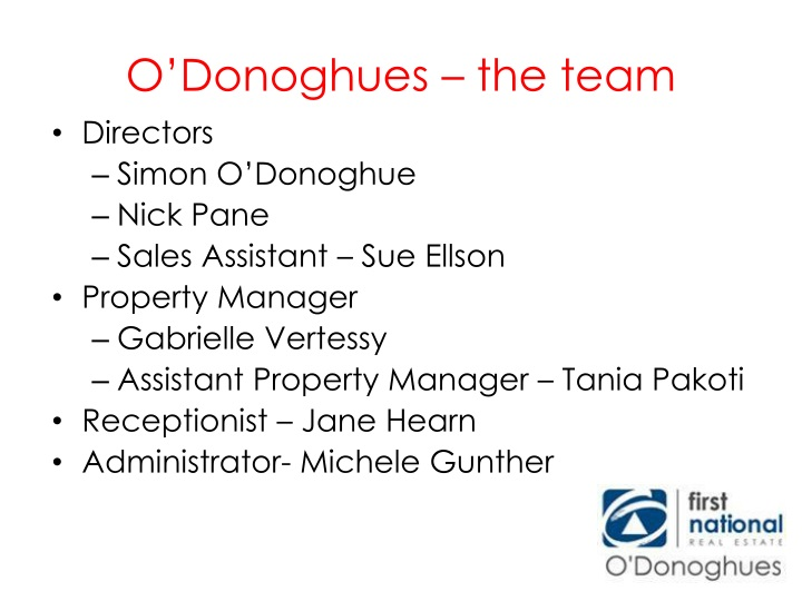 O donoghues the team