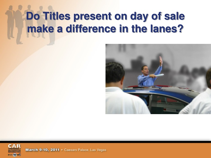 Do Titles present on day of sale make a difference in the lanes?