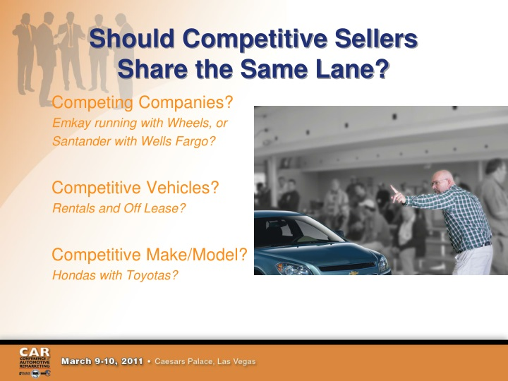 Should Competitive Sellers