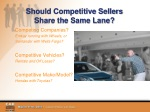 should competitive sellers share the same lane