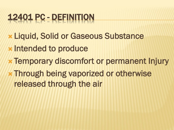 Liquid, Solid or Gaseous Substance