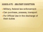 12403 4 pc military exception