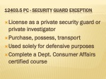 12403 5 pc security guard exception