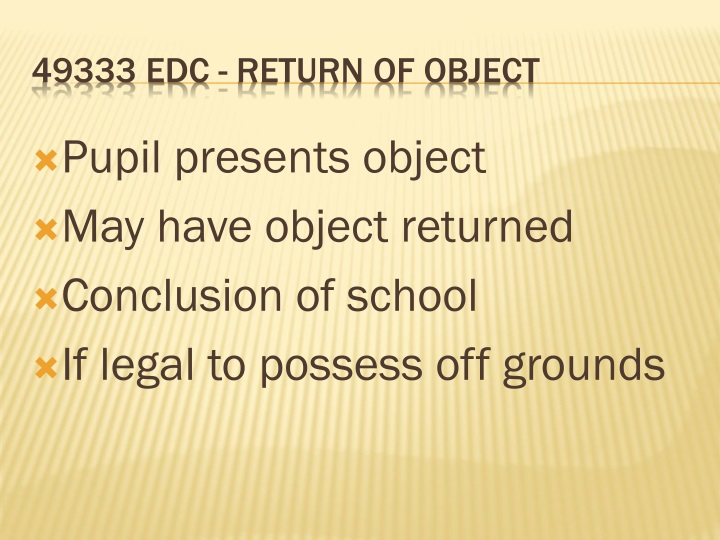 Pupil presents object