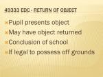 49333 edc return of object