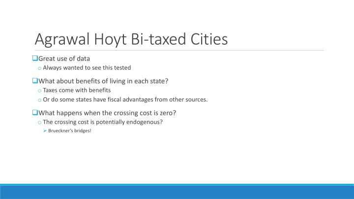Agrawal Hoyt Bi-taxed Cities