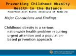 preventing childhood obesity health in the balance food nutrition board institute of medicine