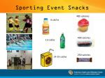 sporting event snacks