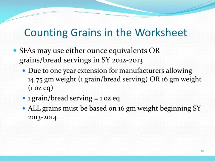Counting Grains in the Worksheet