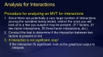 analysis for interactions