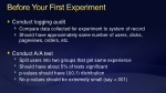 before your first experiment