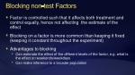 blocking non test factors