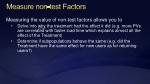 measure non test factors